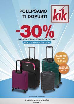 KIK katalog Potovalni kovčki in prtljaga
