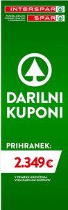 Spar in Interspar katalog Darilni kuponi 04/21