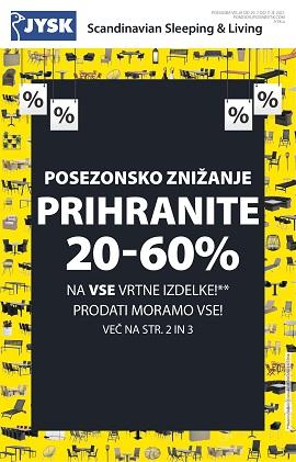 JYSK katalog Posezonsko znižanje do 11.8.