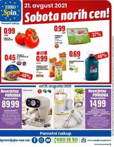 Eurospin akcija Sobota norih cen 21. 8.