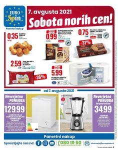 Eurospin akcija Sobota norih cen 7. 8.