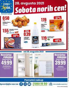 Eurospin akcija Sobota norih cen 28. 8.