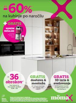 Momax katalog Do – 60 % na kuhinje po naročilu