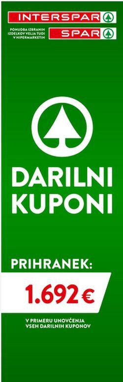 Spar in Interspar katalog Darilni boni 5/21