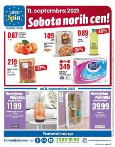 Eurospin akcija Sobota norih cen 11. 9.