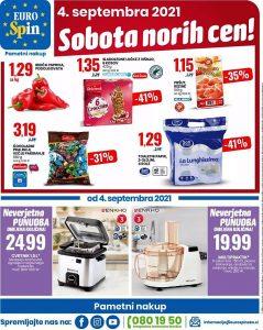 Eurospin akcija Sobota norih cen 4. 9.