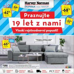 Harvey Norman katalog Praznujte 19 let z nami – pohištvo