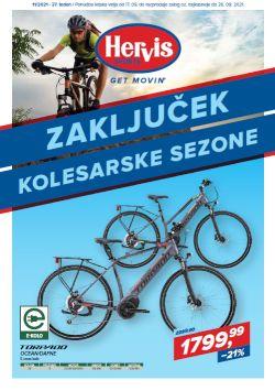 Hervis katalog Zaključek kolesarske sezone